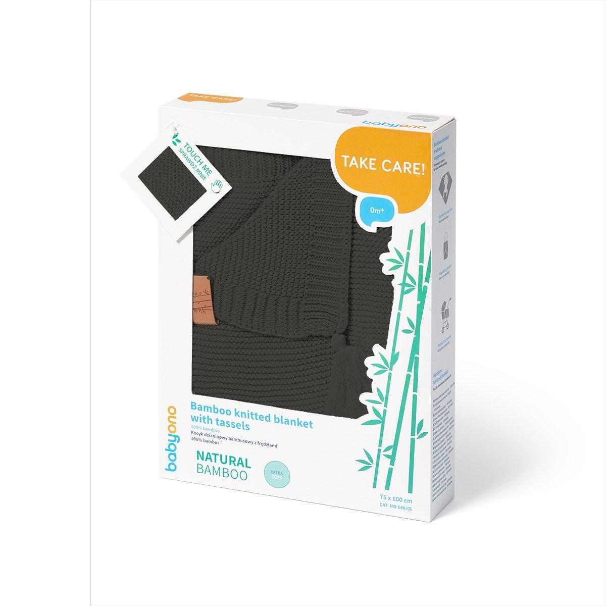 Bambusová deka s tøásnìmi tmavì šedá - zvìtšit obrázek