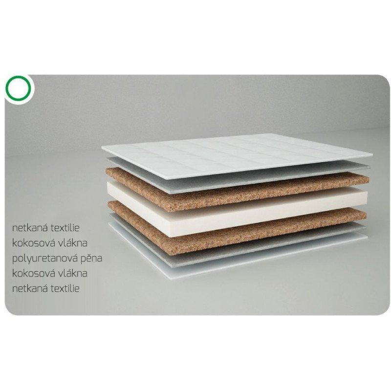 Matrace Komfort bílá 120x60 cm kokos-molitan-kokos - zvìtšit obrázek