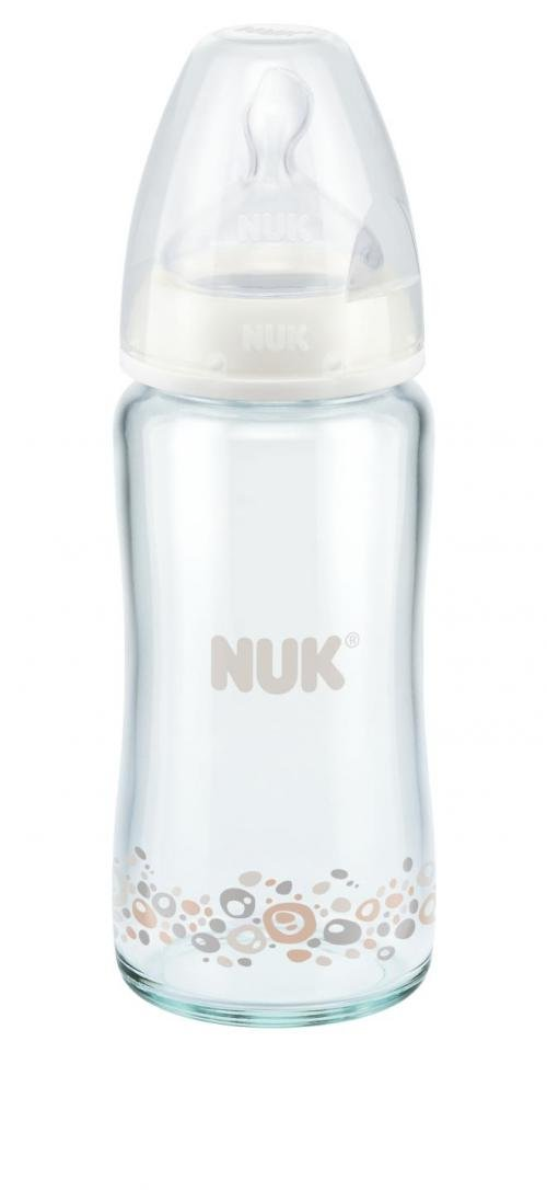 Kojenecká láhev sklenìná First Choice silikon 0-6 m 240 ml - zvìtšit obrázek