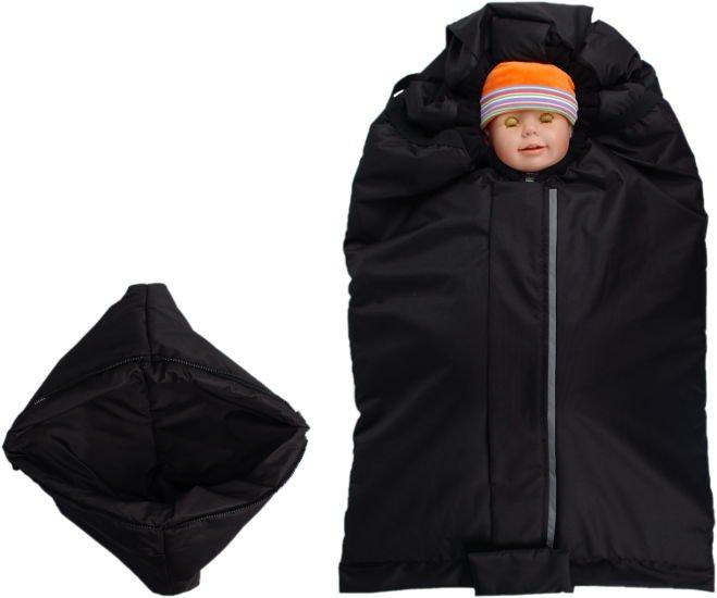 Fusak èerno-èerný s fleece podšívkou - zvìtšit obrázek