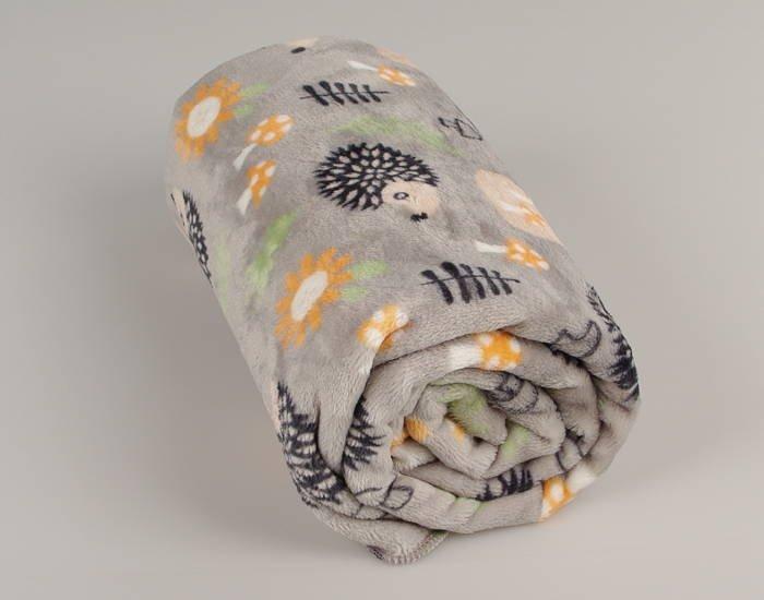 Deka Flanel fleece ježek 70x100cm - zvìtšit obrázek