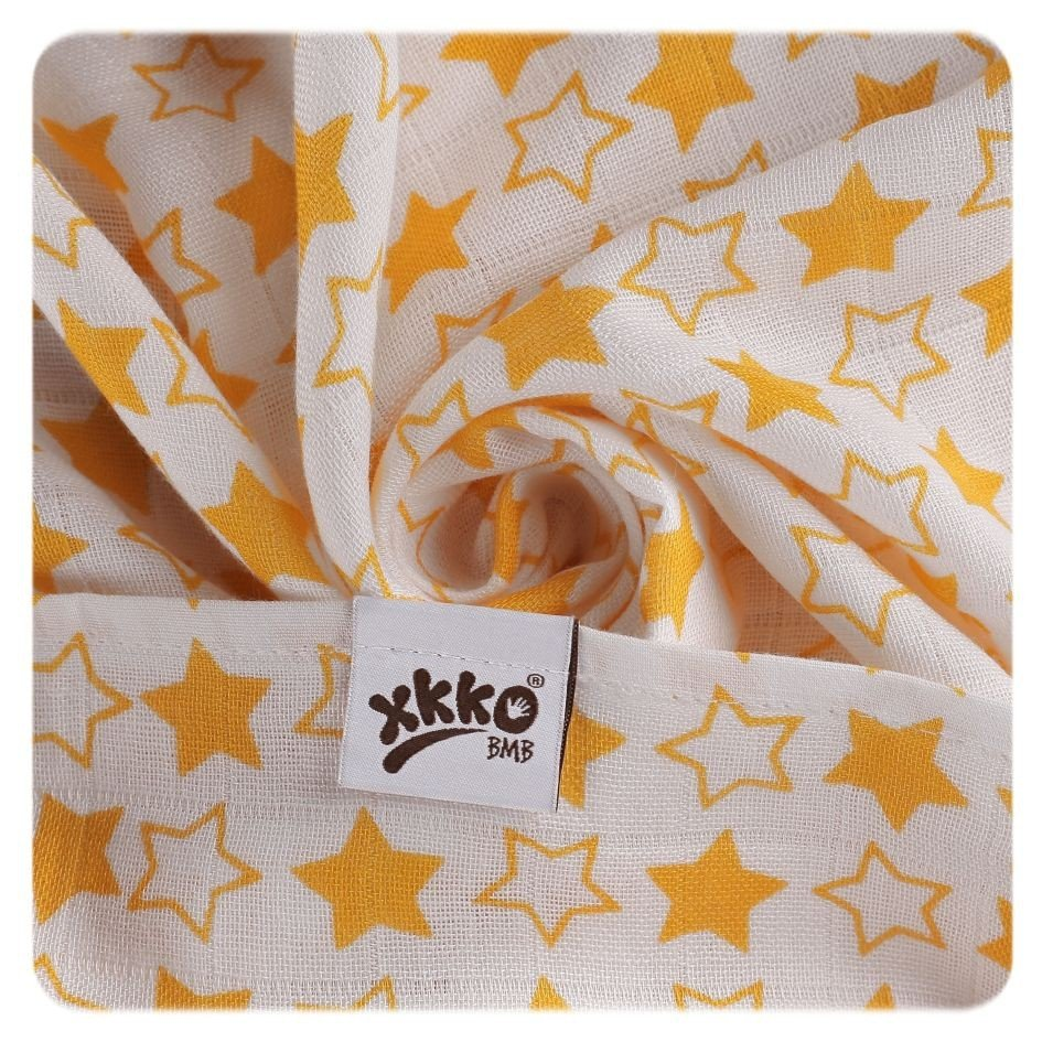 Bambusová osuška 90x100cm Litle Stars Orange - zvìtšit obrázek