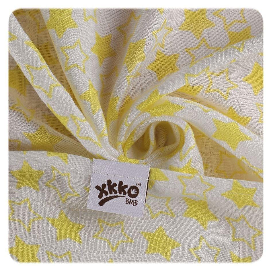 Bambusová osuška 90x100cm Litle Stars Lemon - zvìtšit obrázek