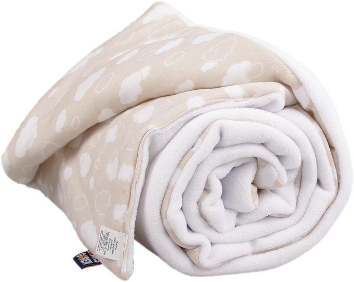 Zateplená dìtská deka bílé mráèky - zvìtšit obrázek