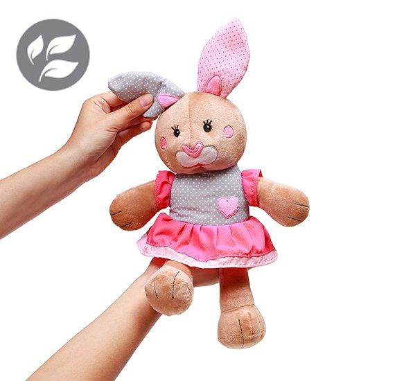 Plyšová hraèka s chrastítkem zajíèek Julie - zvìtšit obrázek