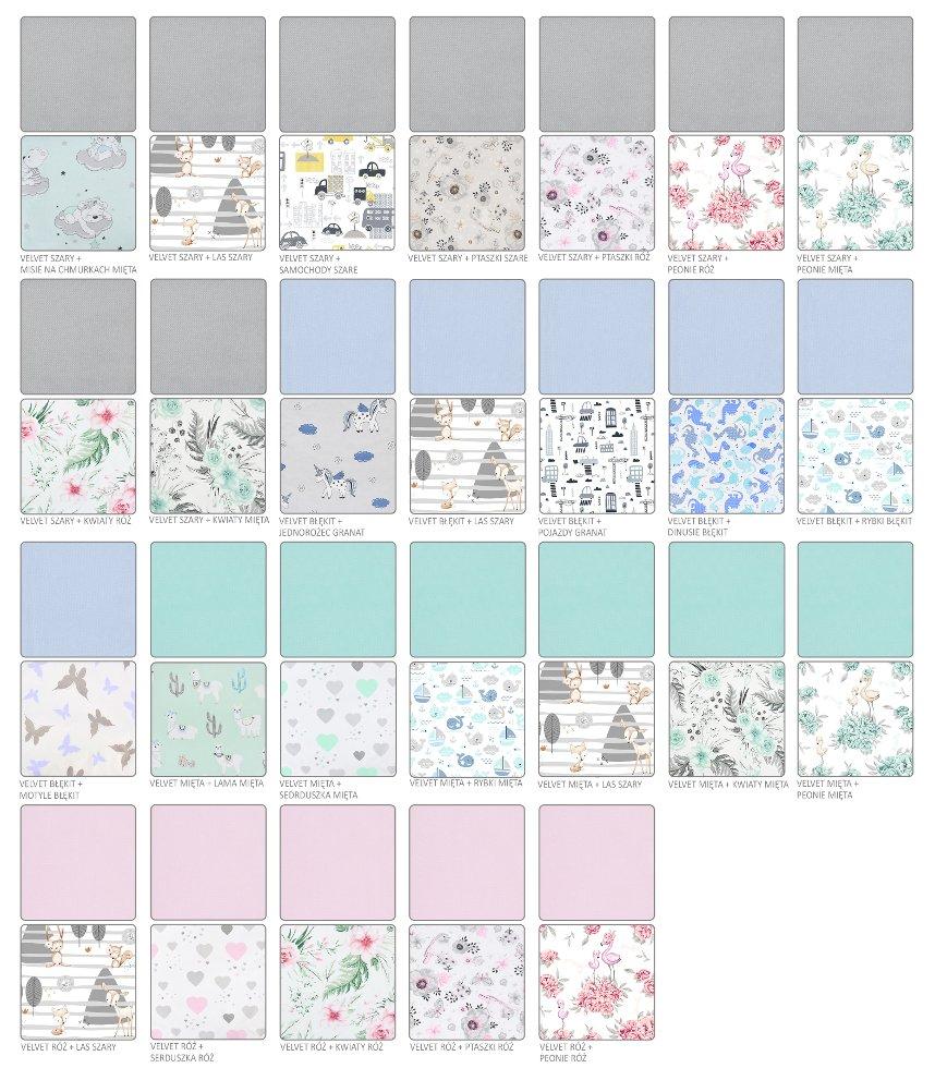 Povleèení do postýlky 2 díly 135x100 cm velvet+bavlna mix vzorù - zvìtšit obrázek