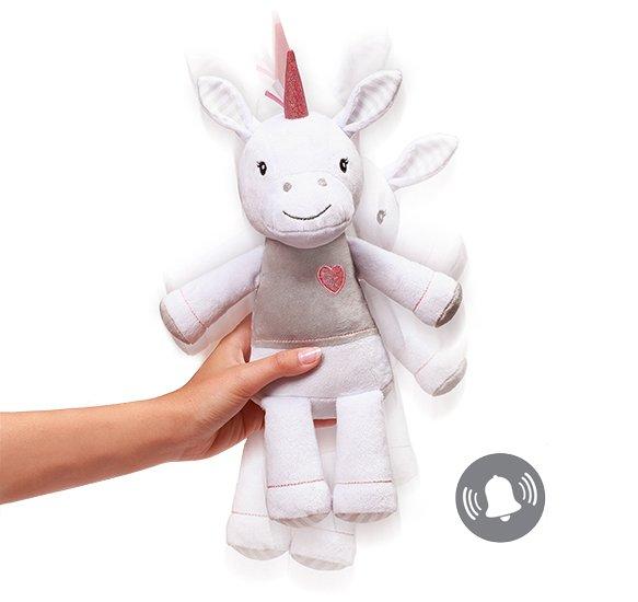 Plyšová hraèka jednorožec Lucky malý 40 cm bílá - zvìtšit obrázek