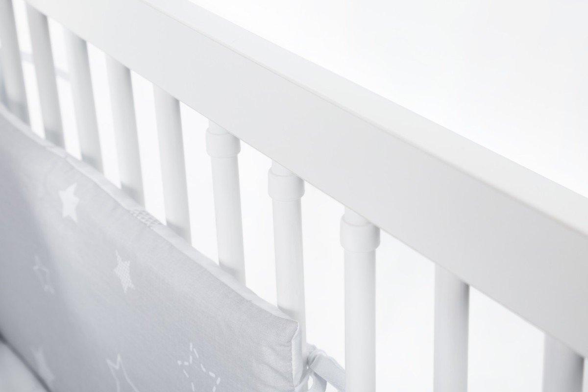 Dìtská postýlka Nati Ètyølístek šedo-bílá - zvìtšit obrázek