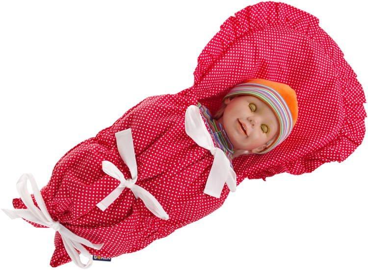 Zavinovaèka do porodnice èervená puntíky - povlak - zvìtšit obrázek