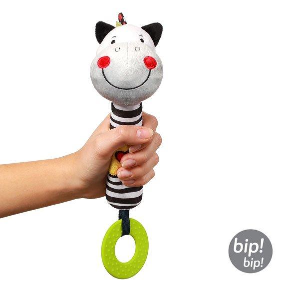Pískací hraèka s kousátky zebra Zack - zvìtšit obrázek