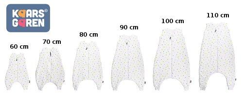 Bio spací pytel s nožièkami 70 cm hvìzdièky na bílé - zvìtšit obrázek