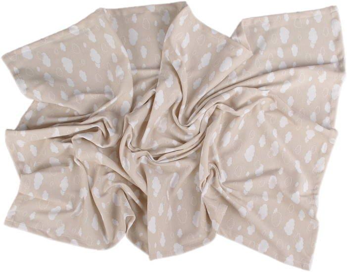 Lehká letní deka 100x130cm béžová obláèky - zvìtšit obrázek