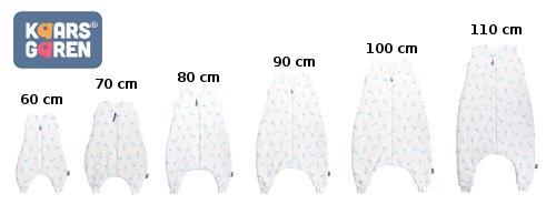 Bio spací pytel s nožièkami 70 cm žirafky aqua - zvìtšit obrázek