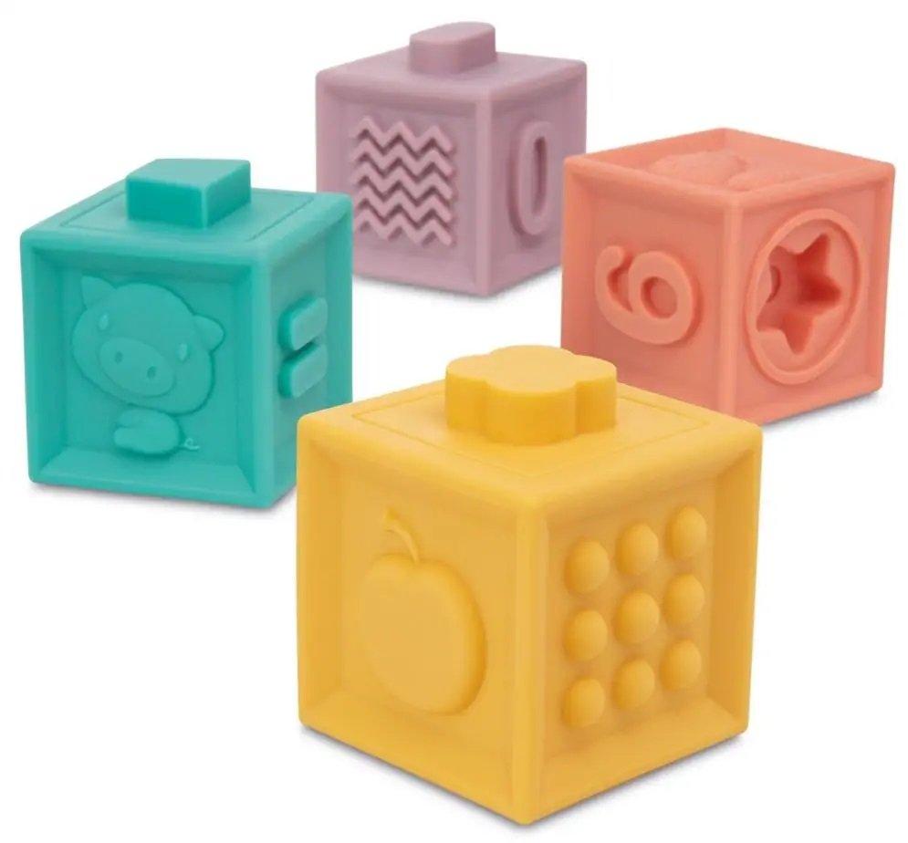 Mìkké senzorické hrací kostky 12 ks - zvìtšit obrázek