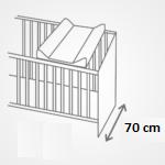 Pøebalovací podložka tvrdá 80x50 cm Hvìzdy šedá - zvìtšit obrázek