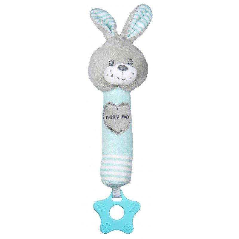 Plyšové chrastítko do ruky s pískátkem a kousátkem králík - zvìtšit obrázek