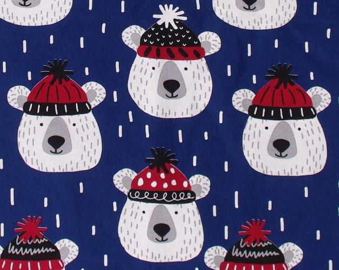 Zateplená dìtská deka tmavomodrá medvìdi - zvìtšit obrázek