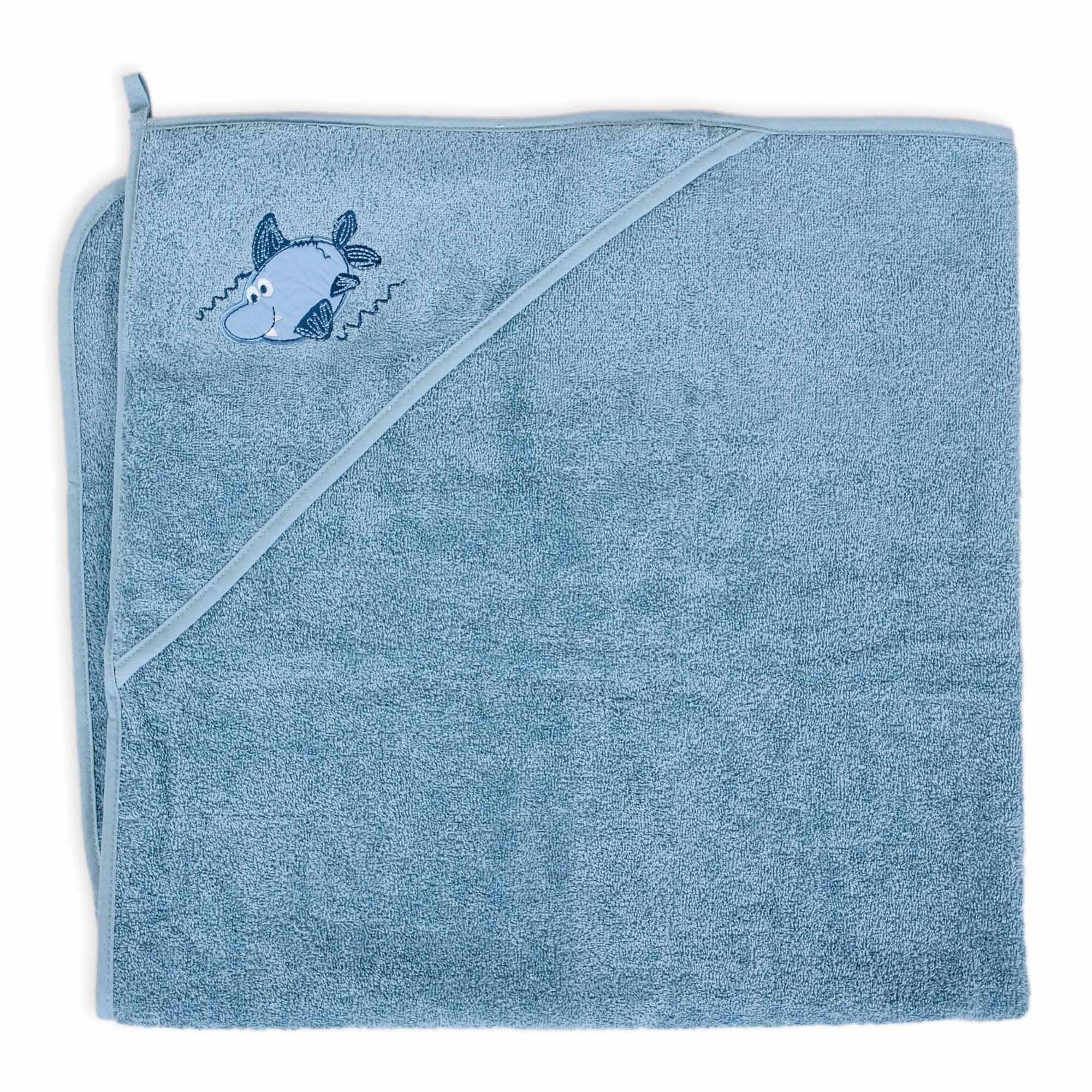 Osuška s kapucí žralok 100x100cm modrá - zvìtšit obrázek