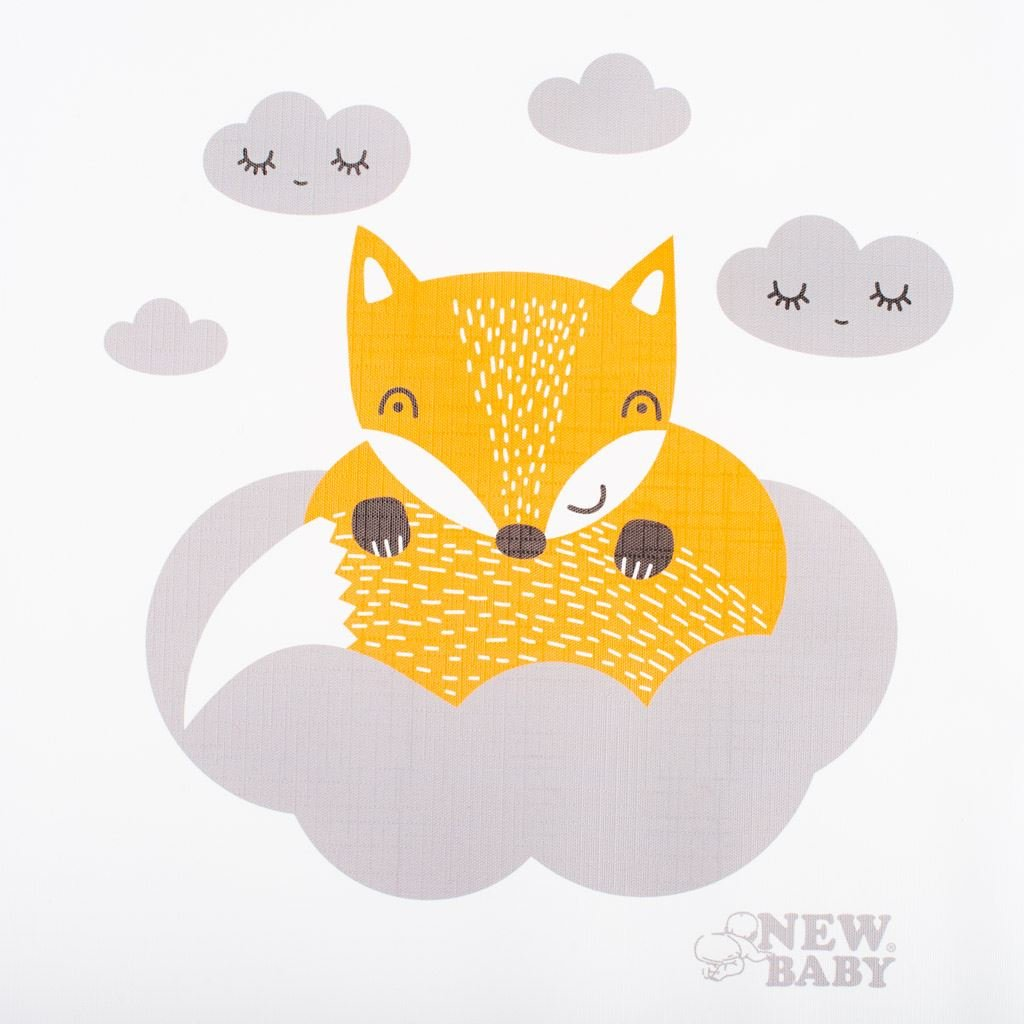Pøebalovací podložka mìkká New Baby Liška bílá 85x70 - zvìtšit obrázek