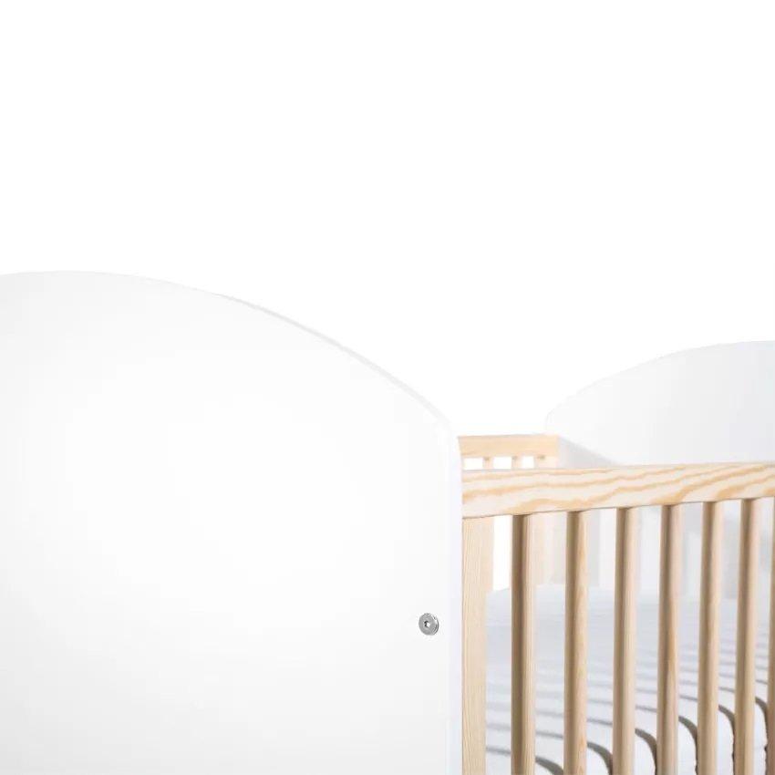 Dìtská postýlka CHARLIE 120x60 cm pøírodní-bílá - zvìtšit obrázek