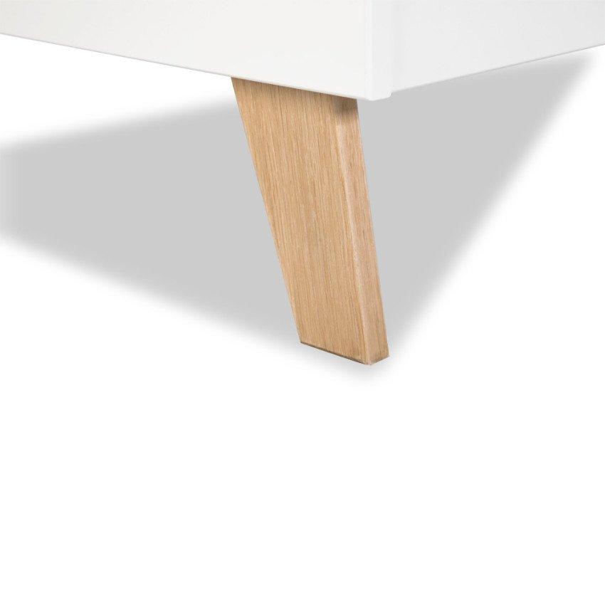 Dìtská postýlka NOAH se zábradlím 120x60 cm bílá-dub - zvìtšit obrázek