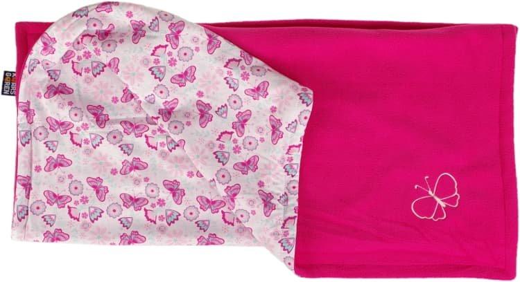 Dìtská deka rùžová motýl fleece bavlna - zvìtšit obrázek