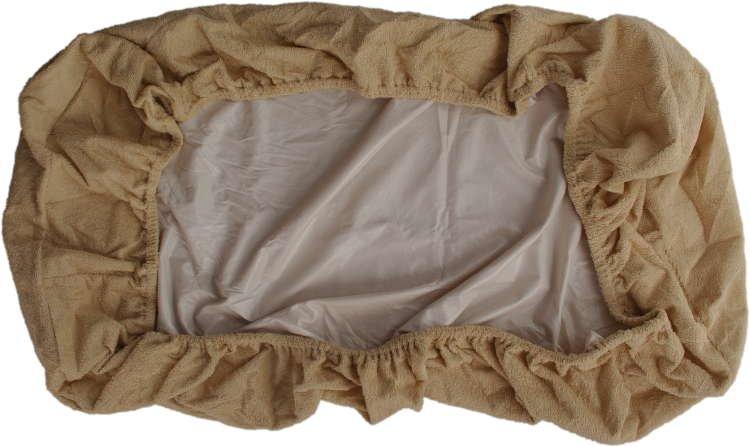 Nepropustné prostìradlo 120x200cm béžové froté bavlna - zvìtšit obrázek