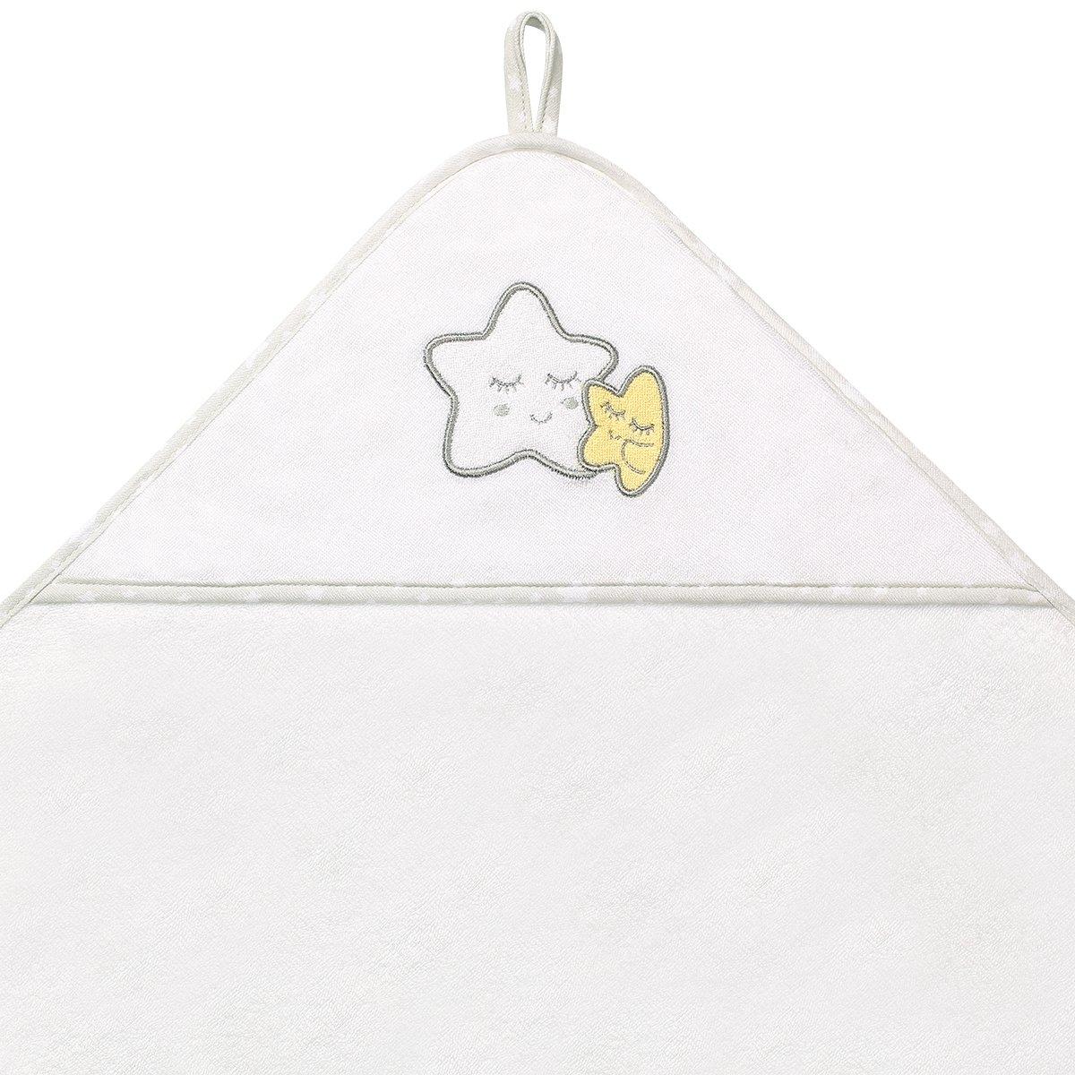 Osuška s kapucí hvìzdièka FROTTE 76x76 cm bílá - zvìtšit obrázek