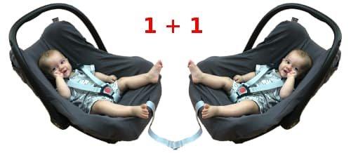 Potah z bavlny na dìtskou autosedaèku 1+1 tmavošedý - zvìtšit obrázek
