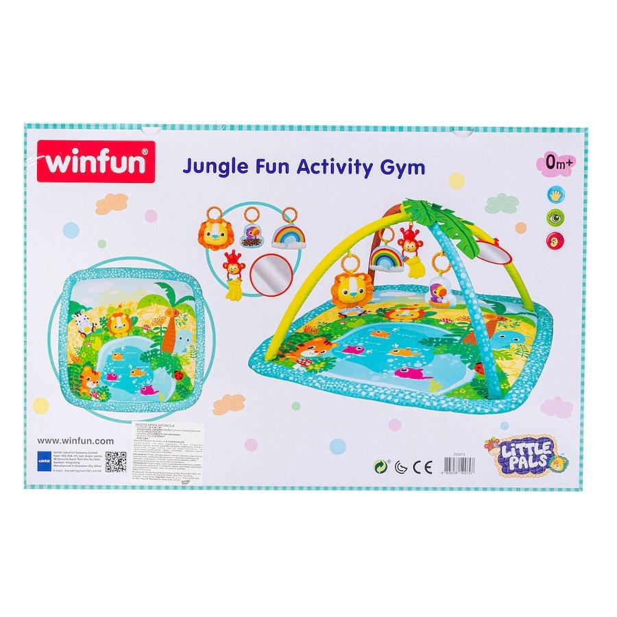 Dìtská hrací deka džungle tyrkysová - zvìtšit obrázek
