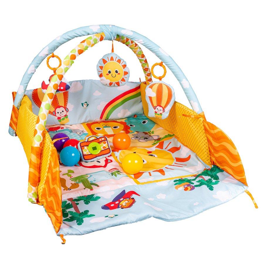 Hrací deka ètverec sluveèný den s možností ohrádky - zvìtšit obrázek