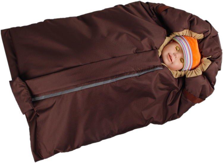 Fusak hnìdo-béžový s fleece podšívkou - zvìtšit obrázek