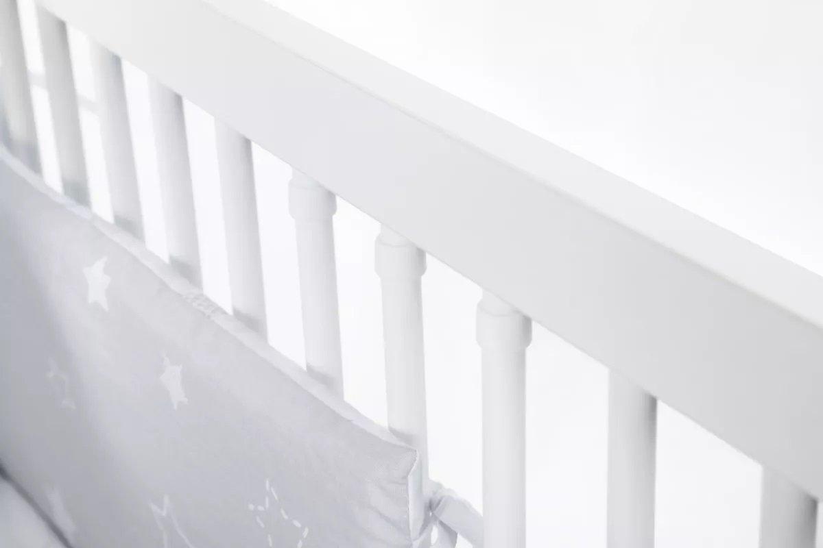 Dìtská postýlka 120x60 cm Nati bílá-popel - zvìtšit obrázek