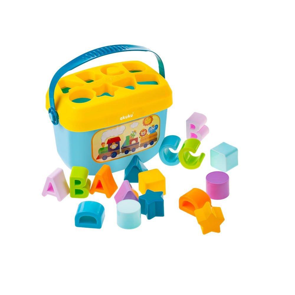 Edukaèní hraèka vkládaèka kyblík písmenka a tvary - zvìtšit obrázek