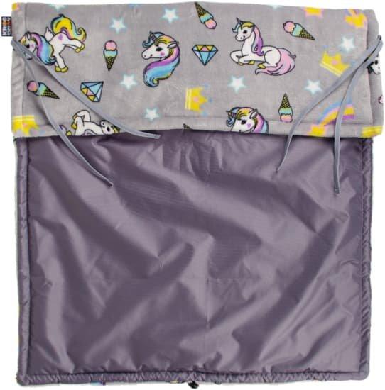 Šedá nepadací deka jednorožci 70x100 cm šedá - zvìtšit obrázek