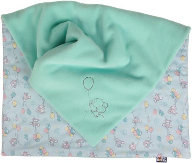 Zateplená dìtská deka 70x100 cm mentolová myšky - zvìtšit obrázek