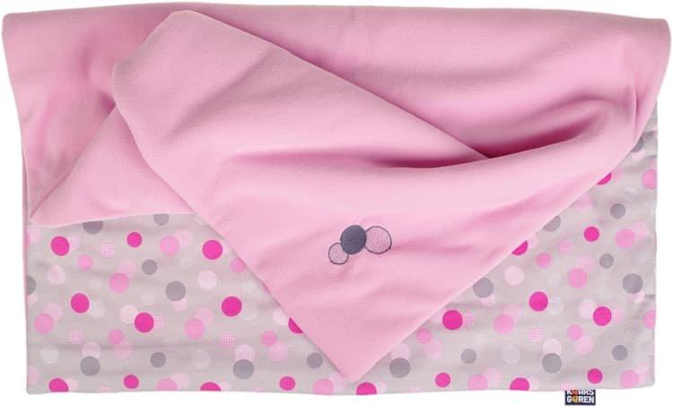 Zateplená dìtská deka 70x100 cm puntíky rùžová - zvìtšit obrázek