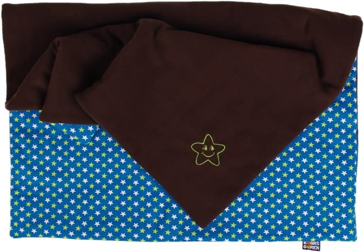 Zateplená dìtská deka 70x100 cm hnìdá hvìzdièky - zvìtšit obrázek