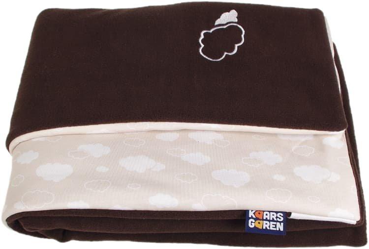 Zateplená dìtská deka 70x100 cm obláèky hnìdá - zvìtšit obrázek