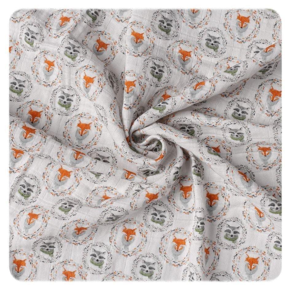 Bavlnìná plena Organic 120x120 cm Fox&Raccoon - zvìtšit obrázek