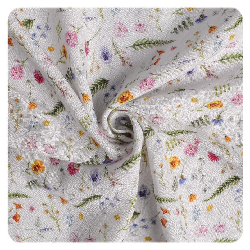 Bavlnìná plena Organic 120x120 cm Summer Meadow - zvìtšit obrázek
