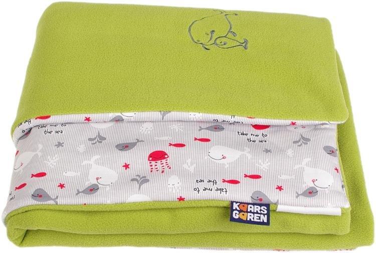 Zateplená dìtská deka rybièky 70x100 cm  zelená - zvìtšit obrázek