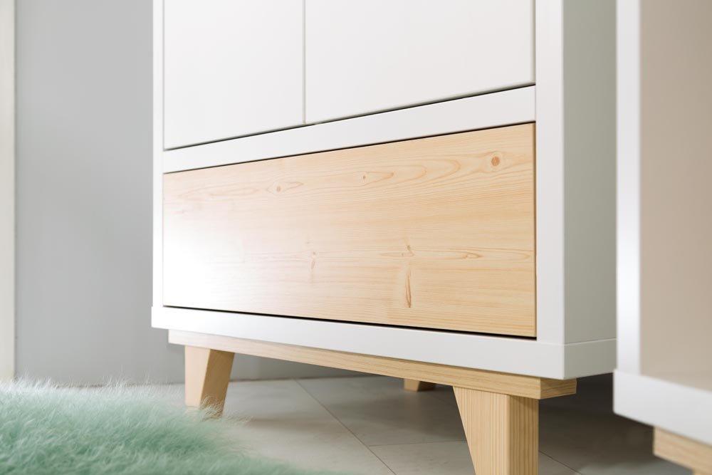 Dìtský pokoj Lydie s postýlkou 120x60 cm pøírodní-bílá - zvìtšit obrázek