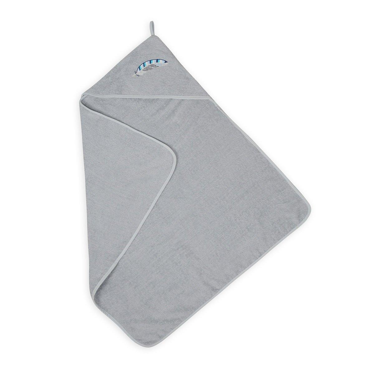 Osuška s kapucí ROBIN 80x80 cm šedá - zvìtšit obrázek
