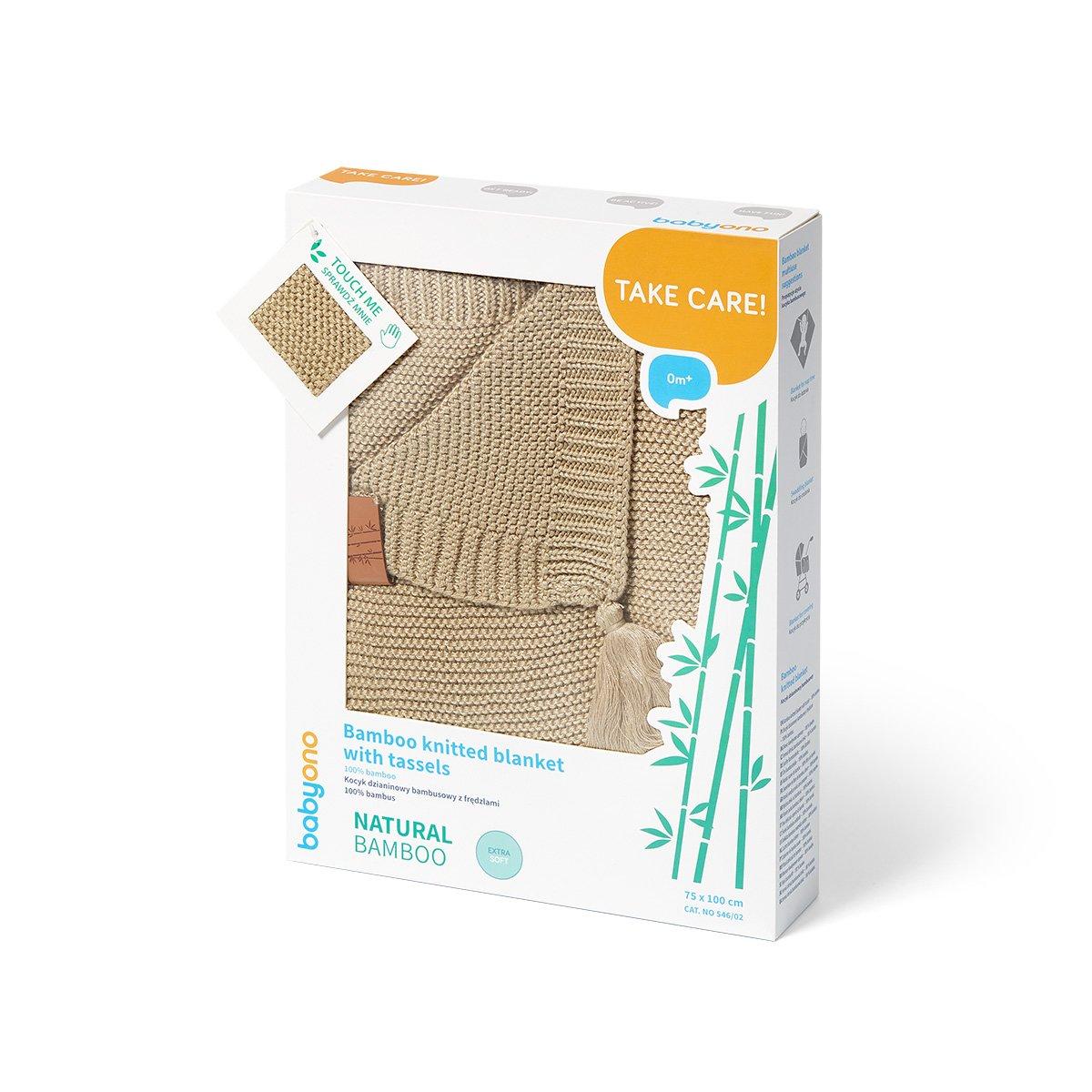 Bambusová deka s tøásnìmi béžová - zvìtšit obrázek